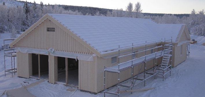 Enplanshus med garage i vinkel till Kiruna