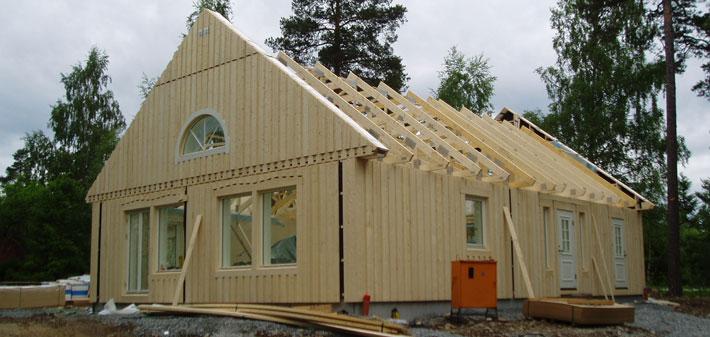 Enplanshus utan vinkel i Nynäshamn