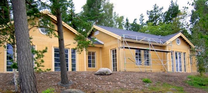 Stomrest skärgårdshus med liggande panel