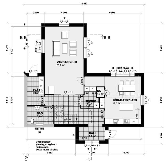Planlösning Villa Varm