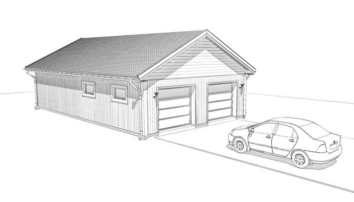 Fristående garage Villa Varm