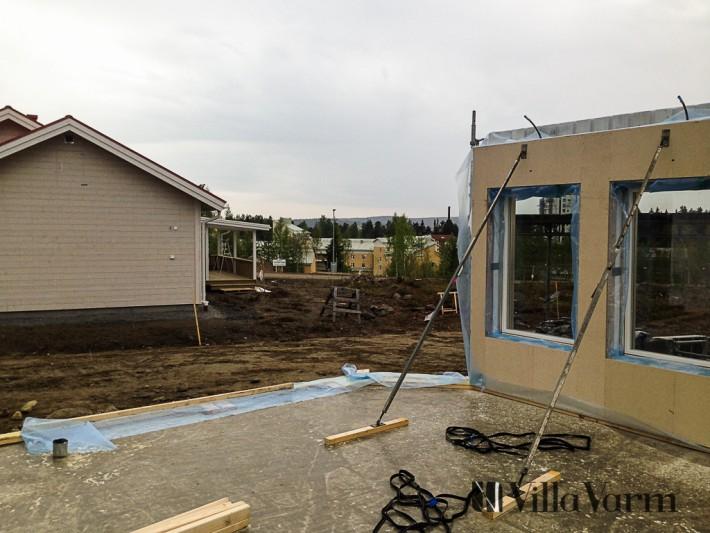 Stomrest hus montering väggblock