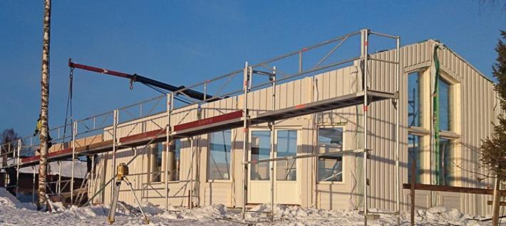 Modernt enplanshus med verandatak – Njurunda