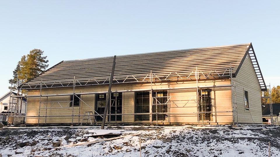 Fjällstuga med full villastandard i Jäckvik